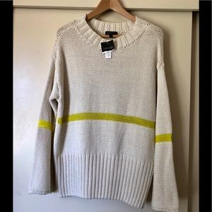 TopShop cable knitted sweater, neon accent